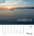 Wandkalender 2017/2018 Monatsblatt April